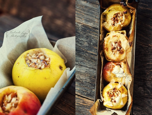 baked apples with walnuts and honey