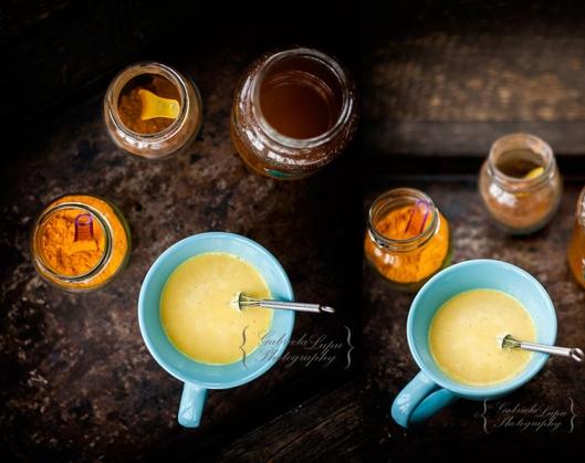 turmeric milk with cinnamon and honey