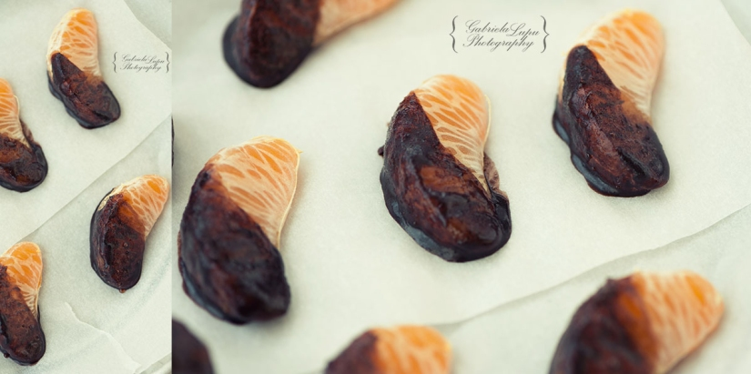 mandarin dipped in chocolate